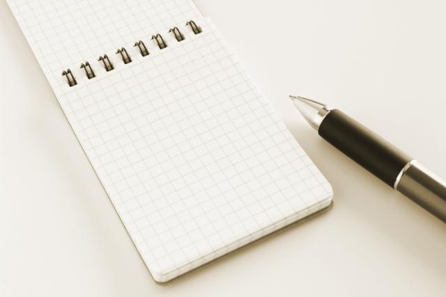 メモ帳とペン セピア|写真素材なら「写真AC」無料(フリー)ダウンロードOK