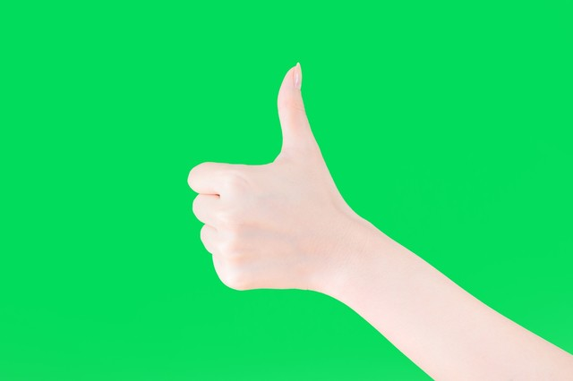 いいね!する手(グリーンバック)|フリー写真素材・無料ダウンロード-ぱくたそ