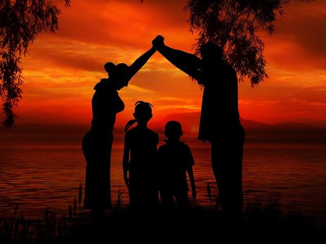 無償のイラストレーション: 家族, 子供, 父, 母, ビーチ, 太陽, サンセット, 女性, 海 - Pixabayの無料画像 - 1466260
