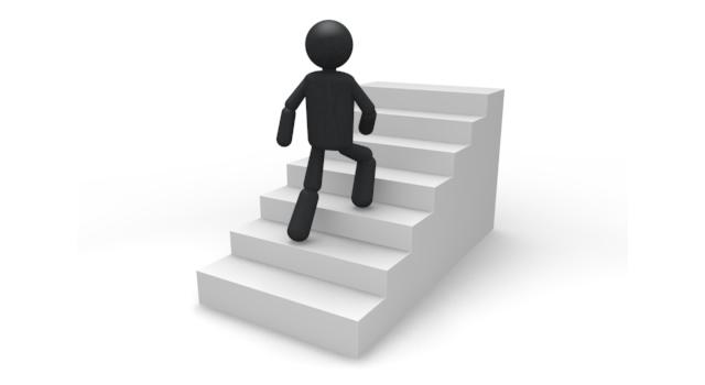 階段をのぼる - ピクトグラム - 無料素材