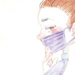 紫色のマスク「そのマスクかっこええな!かっこええな〜。」