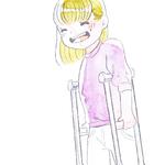 骨折で入院してきたひなたちゃん。『怖い。ちゃんと治るかな。また走れるようになるかな。』