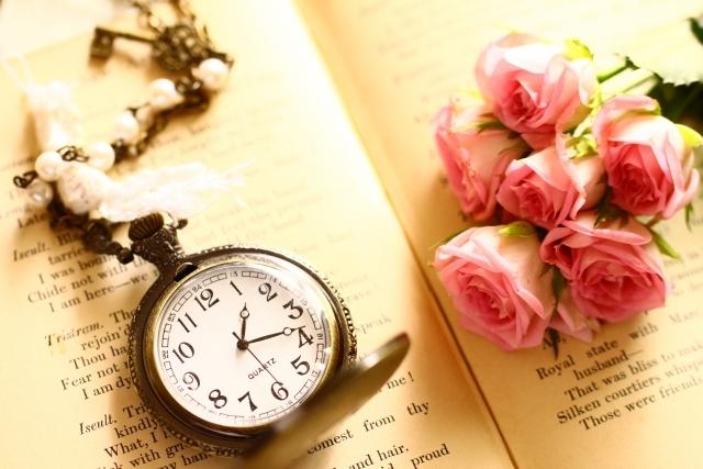 バラとアンティーク懐中時計 写真素材なら「写真AC」無料(フリー)ダウンロードOK