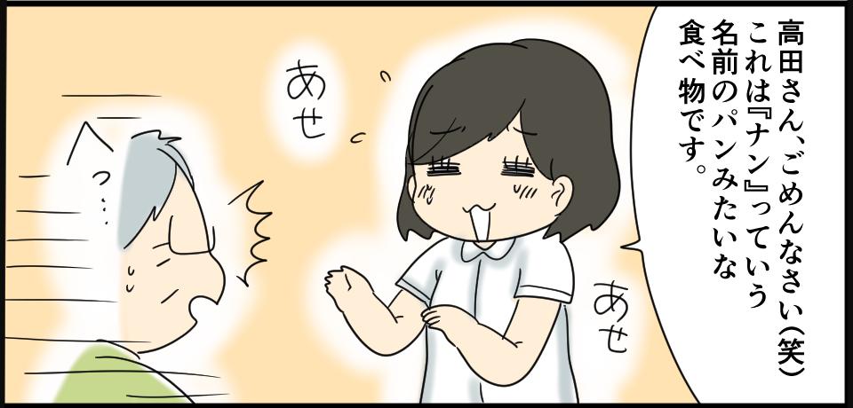 「高田さんごめんなさい(笑)これは『ナン』』っていう名前のパンみたいな食べ物です。」あせ あせ へっ・・・