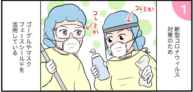 新型コロナウイルス対策のためゴーグルやマスクフェイスシールドを活用している コレとか コレとか
