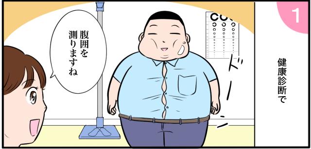 健康診断で 「腹囲を測りますね」